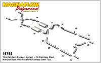 Recently Added Products - Magnaflow Performance Exhaust - Magnaflow Performance Exhaust 55-57 Chevy Bel Air Crossmember Back Exhaust