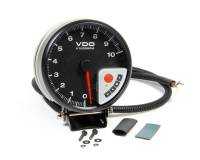 "VDO - VDO PRT Performance 5"" Tach 0-10k RPM Black Face"