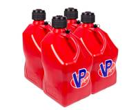 Tools & Pit Equipment - VP Racing Fuels - VP Racing Fuels 5 Gallon Motorsports Utility Jug - Square - Red (Case of 4)