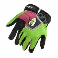 Crew Apparel - Alpha Gloves - Alpha Gloves The Standard - Fluorescent Green - Large