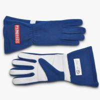 Kids Race Gear - Kids Racing Gloves - Pyrotect - Pyrotect Sport Series Two Layer Driving Gloves - Blue