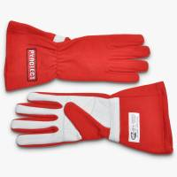 Kids Race Gear - Kids Racing Gloves - Pyrotect - Pyrotect Sport Series Two Layer Driving Gloves - Red