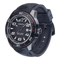 Crew Apparel - Watches - Alpinestars - Alpinestars Tech Watch 3H Black Silicon - Black/Black