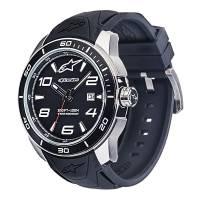 Crew Apparel - Watches - Alpinestars - Alpinestars Tech Watch 3H Steel Silicon - Black/Steel