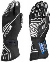 LABOR DAY SALE! - Racing Glove Sale - Sparco - Sparco Lap RG-5 Racing Gloves - Black/White - X-Large / Euro 12
