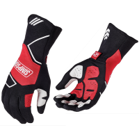 Simpson Gloves - Simpson Wheeler Gloves - $149.95 - Simpson Race Products - Simpson Wheeler Racing Gloves - Black / Red