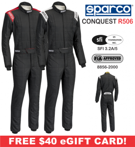 Racing Suits - Sparco Racing Suits - Sparco Conquest R506 Racing Suit - $398.99