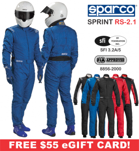 Racing Suits - Sparco Racing Suits - Sparco Sprint RS-2.1 Suit - $549.99