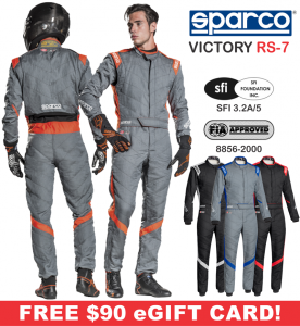Racing Suits - Sparco Racing Suits - Sparco Victory RS-7 Racing Suit - $898.99