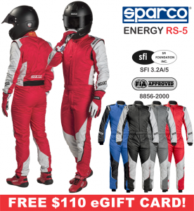 Racing Suits - Sparco Racing Suits - Sparco Energy RS-5 Suit - $1099.99