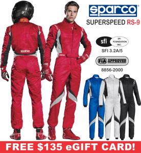 Racing Suits - Sparco Racing Suits - Sparco Superspeed RS-9 Racing Suit - $1349.99