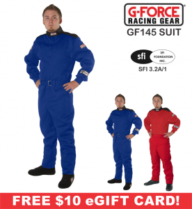 Racing Suits - Shop Single-Layer SFI-1 Suits - G-Force GF145 Racing Suits - $109.99