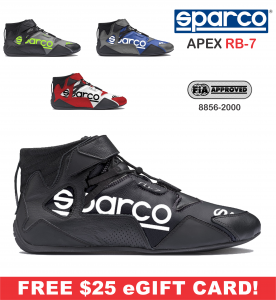 Racing Shoes - Shop All Auto Racing Shoes - Sparco Apex RB-7 Shoes - $248.99