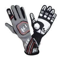 K1 RaceGear - K1 RaceGear Flex Glove - Grey/White/Red