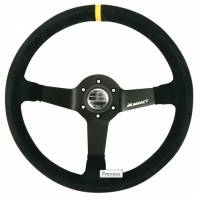 "Steering Wheels - Aluminum Competition Steering Wheels - Impact Race Products - Impact Grip Steering Wheel - 13.75"" - 3.75"" Dish - Black"
