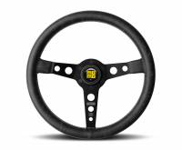 Street Performance / Tuner Steering Wheels - Momo Steering Wheels - Momo - Momo Prototipo Heritage Steering Wheel - 350mm - Black Leather - Black Spokes