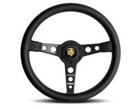 Street Performance / Tuner Steering Wheels - Momo Steering Wheels - Momo - Momo Prototipo 6C Steering Wheel - 350mm - Black Leather - Carbon Fiber Spokes