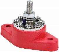 Electrical Wiring and Components - Electrical Junction Blocks - QuickCar Racing Products - QuickCar Power Distribution Post - 8 Location - Red