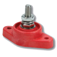 Electrical Wiring and Components - Electrical Junction Blocks - QuickCar Racing Products - QuickCar Power Distribution Post - Single Post - Red