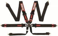 Cam Lock Restraint Systems - 6 Point Camlock Restraints - RaceQuip - RaceQuip Camlock 6-Point Harness - FIA 8853-2016 - Pull-Down Lap Belt - Black