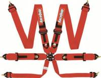 Safety Equipment - Seat Belts & Harnesses - RaceQuip - RaceQuip Camlock 6-Point Harness - FIA 8853-2016 - Pull-Down Lap Belt - Red