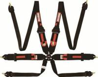 Safety Equipment - Seat Belts & Harnesses - RaceQuip - RaceQuip Camlock 6-Point Harness - HANS Ready - FIA 8853-2016 - Pull-Up Lap Belt - Black