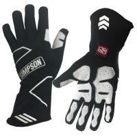 Simpson Gloves - Simpson Wheeler Gloves - $149.95 - Simpson Race Products - Simpson Wheeler Racing Gloves - Black / White