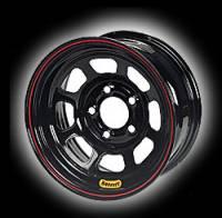 "Bassett Racing Wheels - Bassett 4X4 Wheel - 15"" x 8"" - Black Powder Coat - 4"" Backspace - 5 x 5.50"" Bolt Pattern"