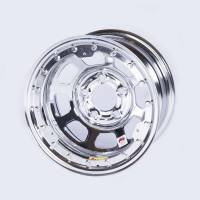 "Bassett Wheels - Bassett IMCA Beadlock Wheels - Bassett Racing Wheels - Bassett D-Hole Beadlock Wheel - 15"" x 8"" - Chrome - 4"" Backspace - 5 x 5"" Bolt Pattern"