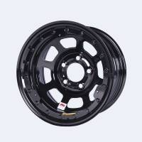 "Bassett Wheels - Bassett IMCA Beadlock Wheels - Bassett Racing Wheels - Bassett D-Hole Beadlock Wheel - 15"" x 8"" - Black Powder Coat - 4"" Backspace - 5 x 5"" Bolt Pattern"