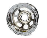 """Bassett Wheels - Bassett D-Hole Lightweight Beadlock Wheels - Bassett Racing Wheels - Bassett D-Hole Lightweight Wheel - 15"""" x 8.75"""" - Chrome - 2"""" Backspace - 5 x 5"""" Bolt Pattern"""