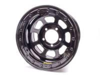 """Bassett Wheels - Bassett D-Hole Lightweight Beadlock Wheels - Bassett Racing Wheels - Bassett D-Hole Lightweight Wheel - 15"""" x 8.75"""" - Black- 4"""" Backspace - 5 x 5"""""""