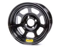 "Bassett Mini-Stock/Legends Wheels - Bassett Mini-Stock/Legends 13"" x 7"" - Bassett Racing Wheels - Bassett Inertia Advantage Wheel - 13 x 7"" - Black Powder Coat - 4"" Backspace - 4 x 100 mm Bolt Pattern"