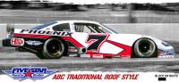 Fivestar Race Car Bodies - ABC Premium Body Package - Traditional Roof - White