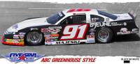 Fivestar Race Car Bodies - ABC Body Package - Greenhouse Roof - White