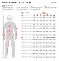 Alpinestars Racing Suit Size Chart