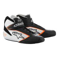 Racing Shoes - Alpinestars Racing Shoes - Alpinestars - Alpinestars 2019 Tech 1-T Shoe - Black / White / Orange - Pre-Order