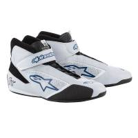 Racing Shoes - Alpinestars Racing Shoes - Alpinestars - Alpinestars 2019 Tech 1-T Shoe -  Silver / Blue - Pre-Order