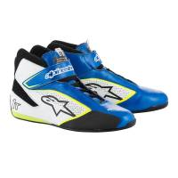 Racing Shoes - Alpinestars Racing Shoes - Alpinestars - Alpinestars 2019 Tech 1-T Shoe - Blue / White / Yellow - Pre-Order