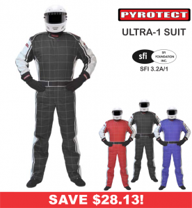 Racing Suits - Shop Single-Layer SFI-1 Suits - Pyrotect Ultra-1 - SALE $160.87 - SAVE $28