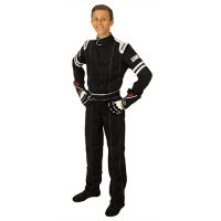 Kids Race Gear - Simpson Race Products - Simpson Legend II Youth Racing Suit - Black / White