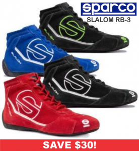 HOLIDAY SAVINGS DEALS! - Racing Shoe Deals - Sparco Slalom RB-3 - SALE $149.88 - SAVE $30