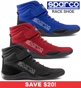 HOLIDAY SAVINGS DEALS! - Racing Shoe Deals - Sparco Race - SALE $79.88 SAVE $20