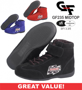 Racing Shoes - G-Force Racing Shoes - CLEARANCE! - G-Force GF235 RaceGrip Mid-Top Racing Shoes - CLEARANCE $59.88