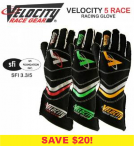 Velocity 5 Race Glove - CLEARANCE $69.88