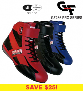 Racing Shoes - G-Force Racing Shoes - CLEARANCE! - G-Force GF236 Pro Series Race Shoe - CLEARANCE $69.88