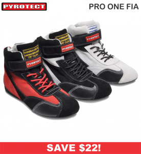 HOLIDAY SAVINGS DEALS! - Racing Shoe Deals - Pyrotect Pro One FIA - SALE $126.87 - SAVE $22