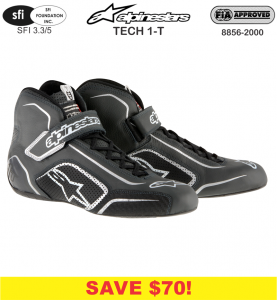 Racing Shoes - Shop All Auto Racing Shoes - Alpinestars Tech 1-T Racing Shoes - SALE $199.88 - SAVE $70