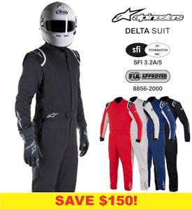 Alpinestars Delta Race Suits - SALE $399.88 - SAVE $150