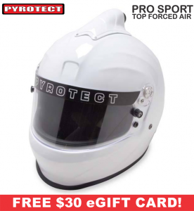 Racing Helmet Deals - Pyrotect Helmet Deals - ProSport Top Forced Air - SALE $254.87 - SAVE $44